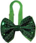 WMU Bow Tie Green Sequin Light Up