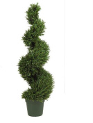 Nearly Natural 5170 Rosemary Spiral 4 - Indoor- Outdoor Silk Tree- Green