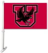 BSI Products 97084 Utah Utes- Car Flag W-Wall Brackett