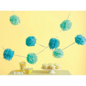 Tissue Paper Pom-Pom Kit Makes 5-Blue