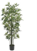 Nearly Natural 5294 6 ft. Bamboo Silk Tree Green Trunks