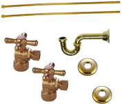 "Kingston Brass KPK102P Plumbing Supply Kits Combo, 1/2"" IPS Inlet, 3/8"" Comp Oulet, Polished Brass"