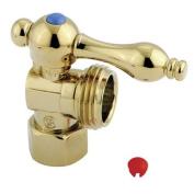 Kingston Brass CC13002 Kingston Brass CC13002 .5 in. IPS .75 in. Hose thread Angle Shut-off Valve Polished Brass