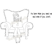 Stamping Bella Cling Rubber Stamp 8.3cm x 9.5cm -Uptown Girl Perry On Her Laptop