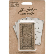 Alpha Cards by Tim Holtz Idea-ology, 72 Alpha and Digit cards, 6.4cm Tall, Paper, Black and White, TH93006