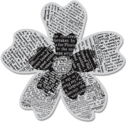 Hero Arts Cling Stamps, Newspaper Flower