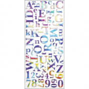 Sticko Alphabet Stickers, Watercolour