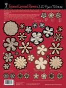 Hot Off The Press HOP-PT-8032 3-D Papier Tole Die-Cuts-Type Set Layered Flowers