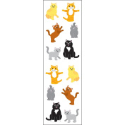 Mrs Grossman MG199-58173 Mrs. Grossmans Stickers-Playful Cats