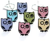 Eyelet Outlet Brads, Winking Owl-Pastel