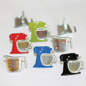 Eyelet Outlet Shape Brads 12/Pkg-Mixers & Cups