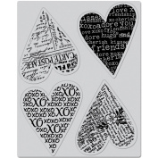 Hero Arts Cling Stamps 10cm x 15cm -4 Hearts
