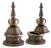 Round Stupa Box Jewellery Holder Buddha Shrine Decoration Collectible
