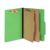 Acco Brands, Inc. Top-Tab Folders,w/ Fasteners,7.6cm Exp,Letter,10/BX,Green