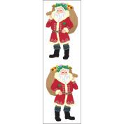 Mrs. Grossman's Stickers-Bright Santas