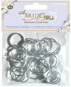 Wedding Rings .190cm 24/Pkg-Silver