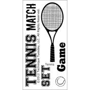 Technique Tuesday TT-B-TENNI Technique Tuesday Clear Stamps 2 in. x 4 in.-Tennis