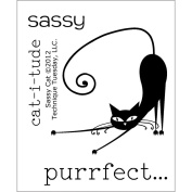 Technique Tuesday TT-A-SASSY Technique Tuesday Clear Stamps 2 in. x 2.5 in.-Sassy Cat