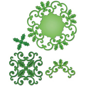 Spellbinders Paper Arts Holly Motifs Shapeabilities