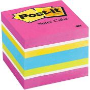 3M Post-it 5.1cm x 5.1cm Convenient Memo Cube, Assorted Colours, #2051-FLT