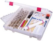 ArtBin 6915AB Super Satchel Slim Cake Decorating Storage Box, Translucent Clear