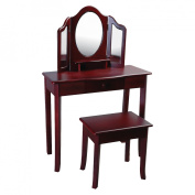 Guidecraft Classic Vanity and Stool Wood Finishes