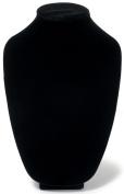 3D Velvet Necklace Stand 30cm , Black