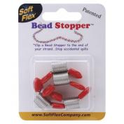 Bead Stopper 4/pkg, Plastic Topped Metal