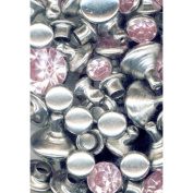 Crystal Rivets 24 Package, Light Pink