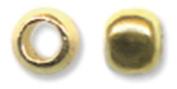 Crimp Beads Size #2 1.5 Grammes/Pkg-Gold Plated