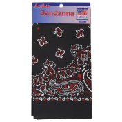 Carolina Hav, A, Hank Paisley Bandanna, 60cm by 60cm , Black, Red, White