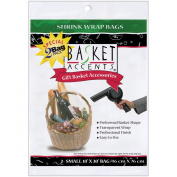 Basket Accents Shrink Wrap Bags Small 18`X30` 2/Pkg-Clear 349151 Notions - In Network
