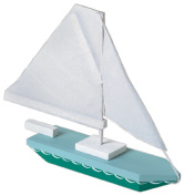 Darice 9169-04  .  m x 0mL x  .  m x 0mW Wood Sailboat Model Kit