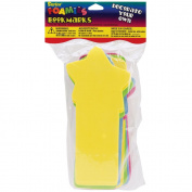 Foam Bookmarks 18/Pkg, Assorted Bright Colours 405449 Darice