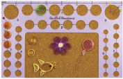Quilled Creations Circle Template Board, 13cm by 20cm