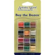 Artistic Wire Buy The Dozen Coloured Wire, 22 Gauge, Dark Tones