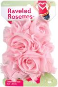Ravelled Rosettes Trim 1 Yard-Rose
