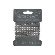 Vision Imports Genuine Rhinestone Trim, Silver