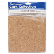 """Cork Collection Adhesive Wall Tile-6""""X6""""X5mm 4/Pkg"""