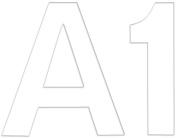 Stick It Felt 5.1cm Numbers & Letters 55/Pkg-White