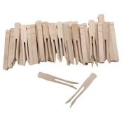 Woodsies No Roll Clothespins-Natural 9.5cm 40/Pkg