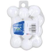 Floracraft Styrofoam Balls, 2.5cm - 0.6cm , 12/pkg, White