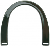 Plastic Purse Handle 13cm - 1.3cm U-Shaped-Black 2/Pkg