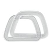 Plastic Handles 15cm - 1.3cm x 11cm D-Shaped-Crystal w/Glitter 2/Pkg