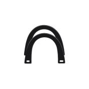 Plastic Handles 13cm - 1.9cm x 11cm U-Shaped-Black 2/Pkg