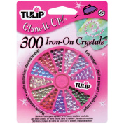 Tulip Glam-It-Up! Iron-On Crystals 300/Pkg-Assorted Colours