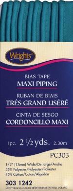 Bias Tape Maxi Piping 1.3cm 2-1/2 Yards-Mediterrane
