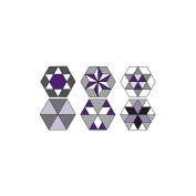 Marti Michell Perfect Patchwork Template, Set G, Small Hexagon Set, 9/pkg