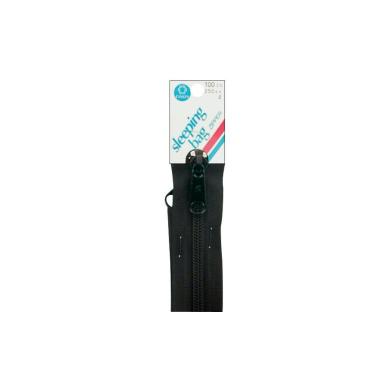 Plastic Sleeping Bag Separating Zipper 250cm -Black