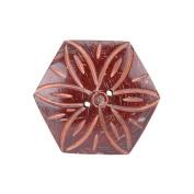 Handmade Coconut Button, Hexagon